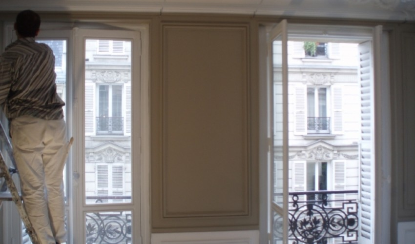 peinture appartement haussmannien emcb. Black Bedroom Furniture Sets. Home Design Ideas