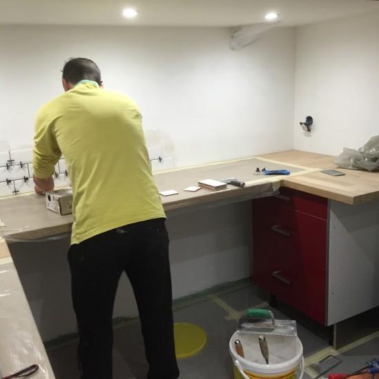Aménagement d'un sous-sol – Création  d'un espace cuisine