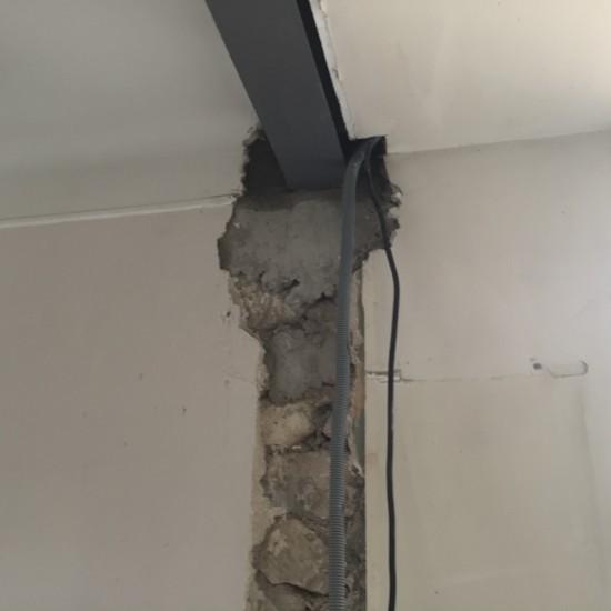 Ouverture sur mur porteur avec poutre fer IPN