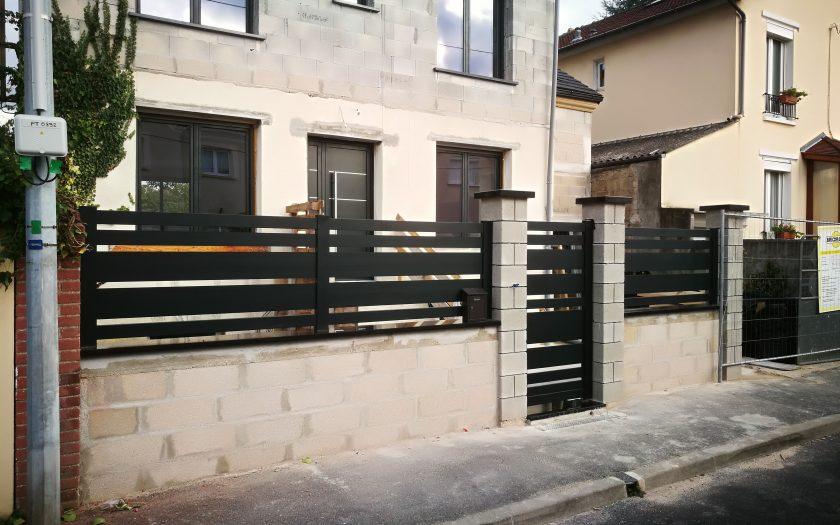 Surélévation portail clôtures piliers