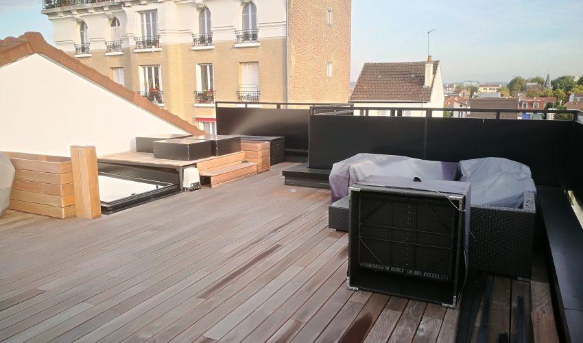 Terrasse sur toiture