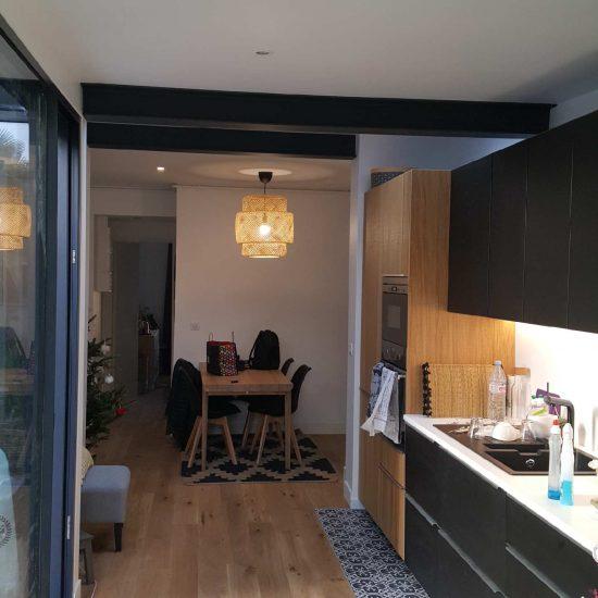 Extension d'un appartement en rez-de-jardin