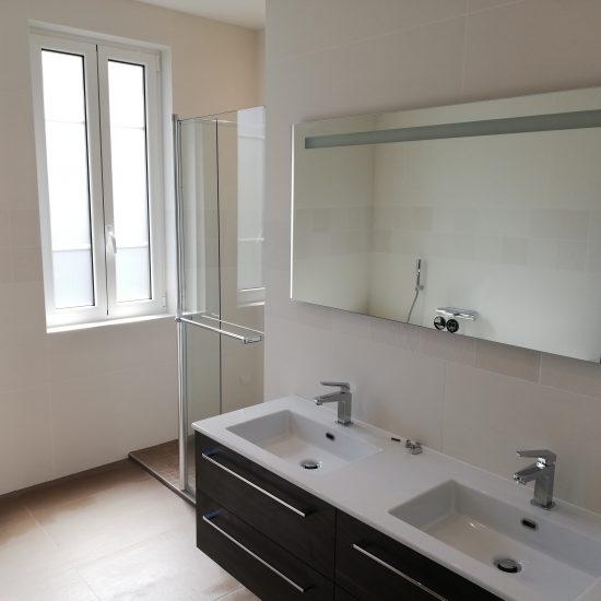 Création d'un espace salle de bains