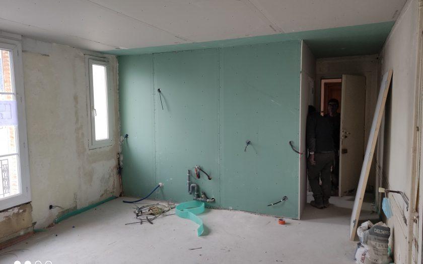 Rénovation logement T2 Placoplatre